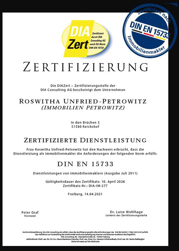 Zertifizierter Immobilienmakler